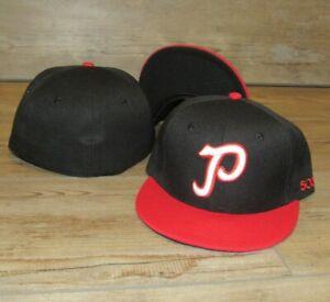 Portland Beavers PCL Minor League Vintage Logo Fitted Hat Cap Men's Size 7 3/8