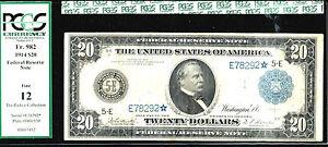 1914 $20  STAR FRN-FR#982*-10 known-Rare-Richmond-POP 1/10-PCGS 12