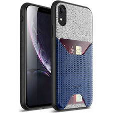 """For Apple iPhone XR 6.1"""" LCD Display Poetic Nubuck Cover【Thin TPU】Case Navy Blue"""