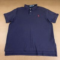 Polo Ralph Lauren Men's Size XL CUSTOM FIT Navy Blue Short Sleeve Polo Shirt