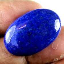 19.75 CARAT NATURAL EARTH MINED LAPIS LAZULI GEMSTONE OVAL CABOCHON AFGHANISTAN