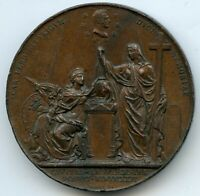 France Louis XVIII Monument of the Duke of Berry 1822 Copper Medal by Barre 51MM