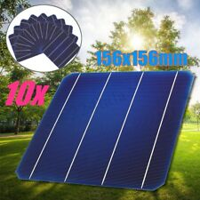 10Pcs 4.6W 156mm Monocrystalline Flexible Solar Cells DIY Solar Panel Battery6x6