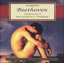 "Classical Beethoven: Symphony No. 5  Piano Sonata No. 8, ""Pathetique"" 1996 by Be"