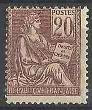 Timbre France 113 ** type Mouchon lot 25573 - cote : 200 €