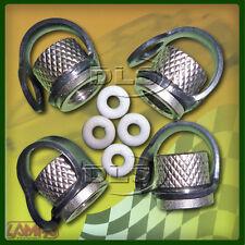 Safety-cap conservado aleación de aluminio de neumáticos Tapa Válvula Set (4)