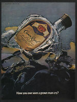 1981 CROWN ROYAL Canadian Whisky - BROKEN BOTTLE MAKES GROWN MAN CRY VINTAGE AD