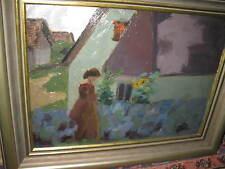 ERLER Erich, *1870 Mädchen im Bauerngarten