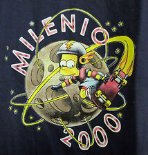 RARE BART SIMPSON MILENIO 2000 SHIRT w/ TAG SKATE BOARD MOON SPACE Groening