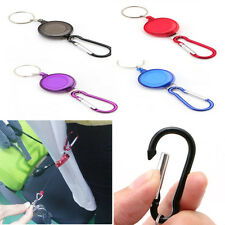 Retractable Badge Spreader Carabiner Recoil Reel Strap Belt Chain Ring Clip Key