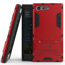 For Sony Xperia X Compact Hard Case Red Kickstand Protective Phone Cover