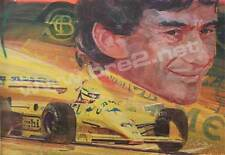 """""""Senna On The Rise"""" Signed Original George Bartell Watercolor art"""