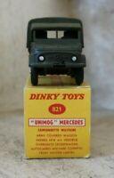 dinky toys 821 camionnette militaire unimog mercedes (meccano france)