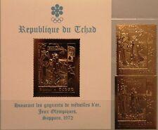 Chad chad 1971 413 a-b bloque 22 invierno Olympics 1972 sapporo oro Kiyonaga Art