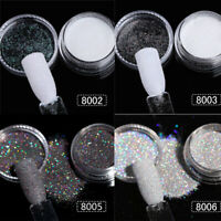 2/4Boxes Mixed Colors Nail Art Glitter Powder Dust Acrylic UV Gel DIY Tips Decor