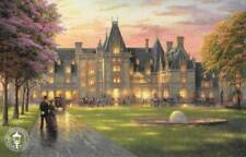 "Elegant Evening At The Biltmore Thomas Kinkade Art Postcard 8.5"" x 5.5"" Ashville"