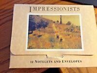 Impressionists 12 Notelets and Envelopes by Studio Designs 12 Cards