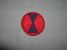 7th US Infantry Division rarer red border variant (D)