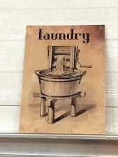 RUSTIC / VINTAGE  LAUNDRY ROOM WALL DECOR