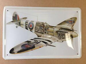 Hawker Hurricane metal sign 300mm x 200mm (jk)