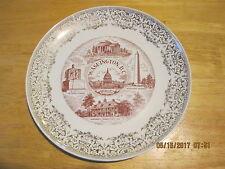 "Vintage Washington, DC 10"" Decorative Plate - VGUC! FREE Ship!"