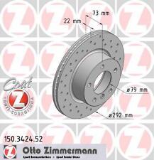 BMW E81 / E87 Série 1 paire de zimmermann disques de frein avant Sport (34116764641)