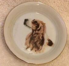 English Springer Spaniel Dog Butter Pat trinket dish Coaster Nippon Porcelain