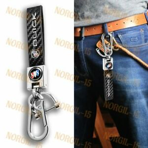 Black Chrome Leather Gift Keychain Lanyard Quick Release Key chain for All Buick