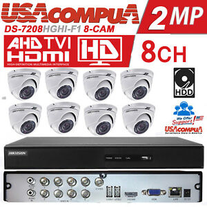 Hikvision Kit 8 Channel 8 Cameras HD 1080p DVR 2TB  DS-7208HGHI-F1