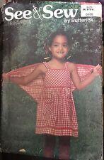 Butterick See&Sew 6498 Child's sundress & shawl size 2,3,4 uncut
