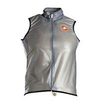 Castelli Sottile Waterproof Wind Rain Cycling Biking Bike Gray Zip Vest Mens XL
