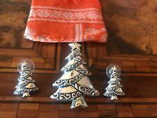 Vintage Christmas Tree  Brooch (& Pendant ) & Earrings Spilla Orecchini Natale