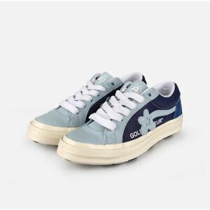 Men CONVERSE x GOLF LE FLEUR  little flower Blue shoes 164024C