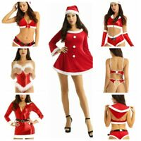 Sexy Womens Santa Claus Costume Christmas Dress Cosplay Party Bodysuit Lingerie