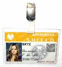 Marvel Agents of Shield Avengers Agent Skye ID Badge Cosplay Prop Gift Comic Con