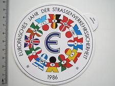 Aufkleber Sticker Europäisches Jahr der Verkehrssicherheit 1986 (6877)