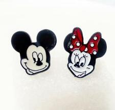 Disney mickey minnie metal earring ear stud earrings studs cartoon unisex new