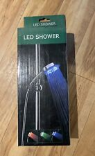NEW LED Shower Hand-Held Head Water Temperature Control 3 Colors Changing Light