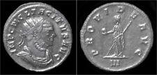 Tacitus silvered antoninianus Providentia standing facing