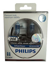 Philips 2x H4 + W5W WhiteVision Ultra Xenon Effekt Autolampe Licht PREMIUM