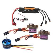 2450KV Brushless Motor 40A ESC & 2Pcs MG90S Servo Fit for Fixed Wing RC Airplane