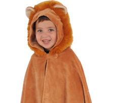 Lion Cub Cape Cloak Costume Animal Plush Child Toddler Hood Kid Winter Jacket