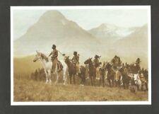 Postkarte Indianer- Amerika Hufeisen Krieger Blackfoot Caballo