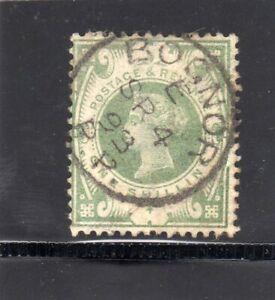 QV 1887 1/- DULL GREEN  SG;211 FULL BOGNOR CDS SP.4.93 SEE SCANS