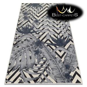 MODERN amazing RUGS 'HEOS' Jungle cream blue CARPETS ORIGINAL nature pattern