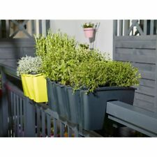 Flower Pot for Hanging Terrace Railing Rail-Mounted Balcony Box Trough-assorted