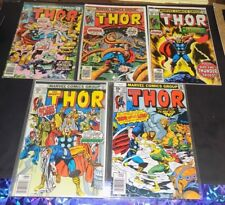 "Thor Lot #254, #256, #272 & #274-275 ""VG/F"" -Marvel- 5 Comics"