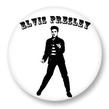 """Pin Button Badge �˜25mm 1"""" Elvis Presley The King Rock and Roll US"""