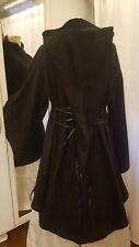 Mittelalterliche Jacke Kapuze Mantel Hoodie Larp Gr.46 48 50 Mittelalter schwarz