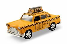 """4.75"""" diecast model toy car New York 1960s classic checker yellow taxi cab #142"""